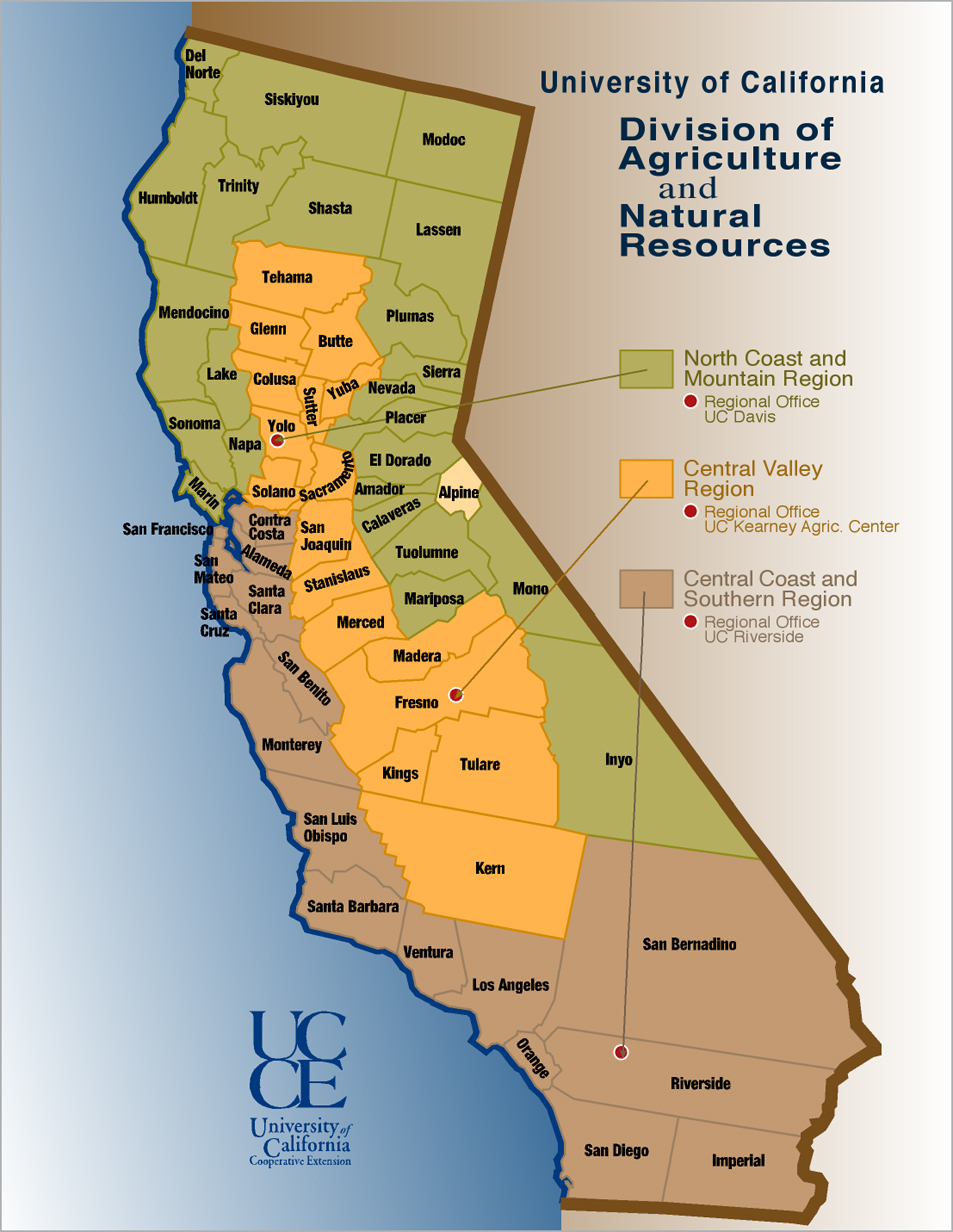 Hemp Can Save The Central Valley Of California California Agriculture Map on